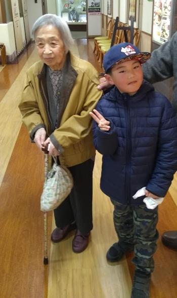 祖母と息子